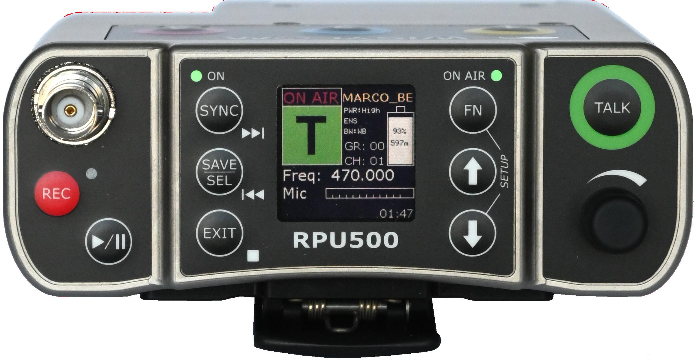RPU500-display